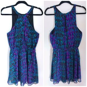 Express Halter Neck Keyhole dress